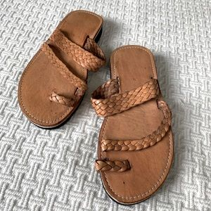 Leather Braided Sandals